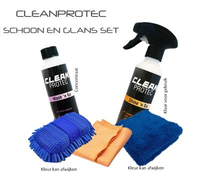Cleanprotec schoon en glans set